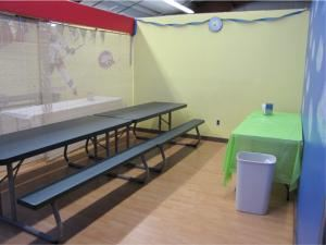 Party Area, Adventure Family Fun Center, Queensbury — We have 5 private party rooms for parties of up to 20 people. Dragon, sports and beach party themed rooms are our more popular rooms.