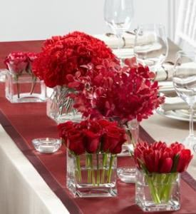 Modern Grace Centerpiece, Blossoms Florist, Mc Lean