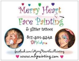 ONE HOUR - 10 CHILDREN -KENNEDALE OLY- $75, Merry Heart Face Painting, Arlington