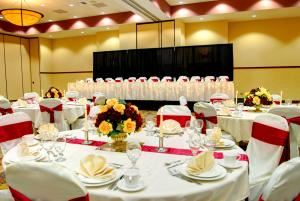 Prairie Ballroom, Holiday Inn Hotel and Convention Center - Stevens Point, Stevens Point — Here is just a small indication of how part of our Prairie Ballroom can be transformed into the perfect space for your wedding reception. We have more photos on our Facebook page, too, for a ton of great ideas.