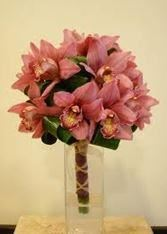 Hand-Made Fresh Orchid Wedding Bouquet with Greenery, Its Just For You, Houston