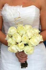 Hand-Held Fresh Rose Wedding Bouquet with Accent Flowers and Twisted Willow and Matching Ribbon – co, Its Just For You, Houston