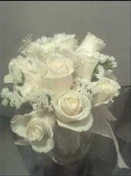 Hand-Held Fresh Rose Wedding Bouquet with Accent Flowers, Willow, Ribbon and Ribbon Holder, Its Just For You, Houston