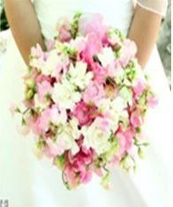 Spring Hand-Held Wedding Bouquet with Daisies, Mini Roses, Fillers (variety of flowers offered) plus, Its Just For You, Houston