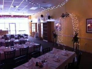 Pinocchios Italian Eatery, Longmont — We can help you create the room just the way you want it--from tables linens, to lighting, to flowers and candles!