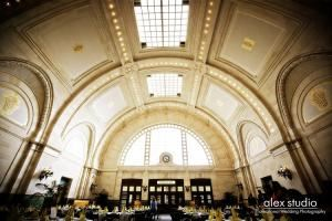 Great Hall at Union Station, Seattle — Guests are awed as they enter this 11,000 square foot classic ballroom. The rich history and beauty of the Great Hall at Union Station has made it a popular location for company parties, product launches, auctions, weddings and social events.