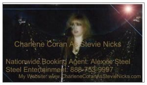 Crystal Visions - Tribute To Honor The Magic of Stevie Nicks, Grass Valley — Professional Business Card