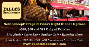 Private Group Dining Package - $64pp, Talia's Steakhouse & Bar - Catering, New York