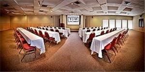 Corporate Events Starting At $15, T Bar M Resort Hotel & Conference Center, New Braunfels — chevron classroom style set up in a conference room