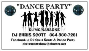 DJ CHRIS SCOTT'S DANCE PARTY DJ/MC/KARAOKE, Taylors