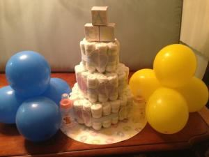 Diaper Cake and Chocolate Lollipops - Baby Shower, Uniqueness Counts, Hackensack