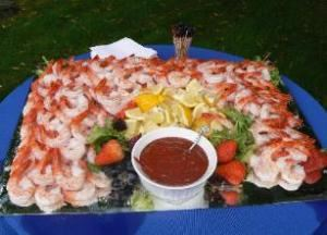 BBQ Packages From $22.95 per person, J & L Catering, Medway — Jumbo Shrimp Cocktail