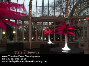 Feather Centerpieces Spandex Base setup 10 Centerpiece Package, Timeless Event Planning, Corona