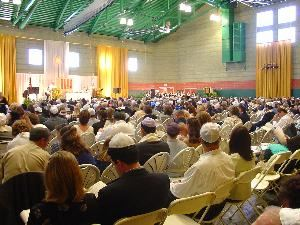 Gymnasium, Agoura Hills/Calabasas Community Center, Agoura Hills — Temple Congregation Or Ami during High Holy Days