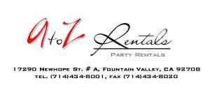 A to Z Party Rentals, Fountain Valley