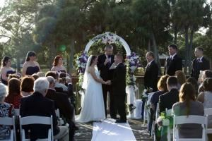 Full Wedding Ceremony Without a Rehearsal In Brevard County, Reverend John Bennett, Rockledge