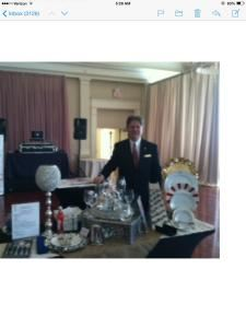 Finest Event Rentals, Services & Accessories, Norcross — Chief event Coordinator, Mark Barlow with some of speciality products