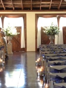 Wedding and/or Reception reserving Queen's Pavilion, Crown Winery LLC, Humboldt — Altar set up for Pavilion