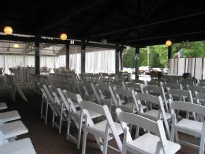 A Taste of Honey, Staten Island — Ceremony set up outdoors