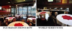 World Series Suite, TGI Fridays Front Row Sports Grill, Phoenix — Private Suite- with 5 round tables inside (35 Seats)