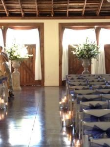 Wedding and/or Reception reserving Queen's Pavilion, Crown Winery LLC — Altar set up for Pavilion