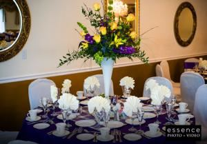 Fox Valley Country Club, North Aurora — Elegant table setting at Fox Valley Country Club.