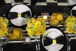 Off Broad Rentals & Design, LLC.  Formally J&L Party Rental, Inc., Winder — Out tablescape at the 2014 GA Bridal Show.