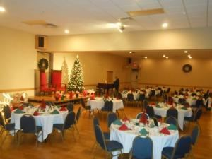 Entire Facility, All Occasions Catering Buffalo, Buffalo — One of our banquet rooms at The Shriner s Hall on Southwestern done up for a holiday party