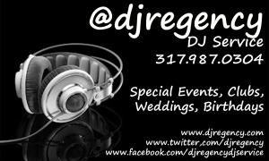 Dj Regency Party Package, DJ Regency Entertainment, Indianapolis — Call to reserve your event 317-987-0304
