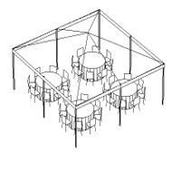 20' x 20' Tent Package - Graduation / Backyard Event, Preferred Party Rentals, Sicklerville