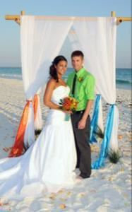 Tropical Blooms Package, Tropical Beach Weddings, Navarre