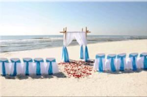 Tropical Bamboo Paradise, Tropical Beach Weddings, Navarre