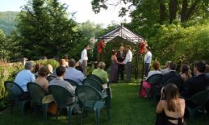 Wedding garden, Prospect Hill Inn/Pavilion Room & Garden, Boone