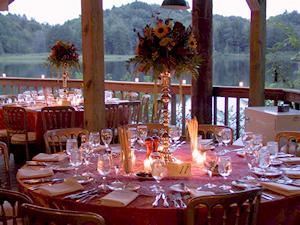 Beaver Hollow Conference Center, Java Center — Trailside Pavilion Dinner (Dusk)