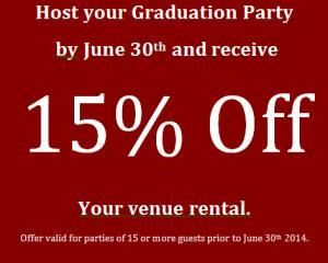 Graduation Party Special: 15% Off, Commellini Estate, Spokane