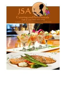 JSA Catering and Party Rentals - Arcadia, Tustin