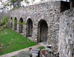 Outdoor Function Space, The Connors Family Retreat and Conference Center, Dover — These stone arches beautifully frame our outdoor function space.