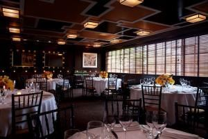 Gibson Room, Aretsky's Patroon, New York — Our Gibson Room, which is located on the second floor of our townhouse is our largest private dining room It seats up to 60 seated guests or 80 people for a cocktail reception. It can also open up into two other rooms in an L shape to accommodate a total of 96 seated guests or 120 people for a cocktail reception.