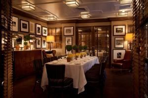 Sporting Room, Aretsky's Patroon, New York — Our Sporting Room, which is located on the second floor can accommodate up to 18 guests boardroom style or up to 24 guests at two round tables of 12.