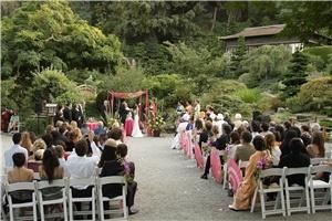 Wedding Ceremony Package, Hakone Estate and Gardens, Saratoga — Ceremony site with a view of the Moon Viewing House and the Moon Bridge