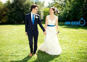 JOHN HEREDIA, Baltimore — Blue themed Autumn brunch wedding at Georgetown.  Tudor Place. www.johnheredia.com