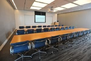 Corporate Packages Starting At $50/Person, Harbor East Events at Legg Mason Tower, Baltimore — The Atlantic Conference Room comes fully equiped with built in speakers, microphones, video conference and audio call capabilities as well as free Wi-Fi and internet access