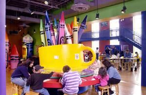 Birthday Rental, Crayola Experience, Easton