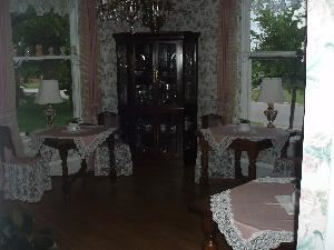 Tea Room, Lockheart Gables Romantic Bed & Breakfast, Fort Worth — Tea Room with 3 antique pull out tables for cakes, food, and or gifts!