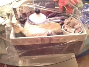 Custom Tabletop Decor , Black Bag Productions, Laurel — 2014 custom birthday basket