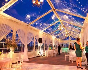 Terrace, Cairnwood, Bryn Athyn — The sweeping south terrace with commanding views of the Bryn Athyn Historic District can accommodate up to 200 guests for elegant dining under the stars or within a customized tent.