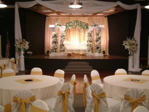 Gold Wedding Package, Madison's Banquet Room, Portland