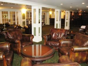 Sapphire Wedding Package, Inn at Pocono Manor, Pocono Manor — Marmaduke's Lounge is for private functions.  By opening the wall of French doors, this space can encompass Marmaduke's Lobby.