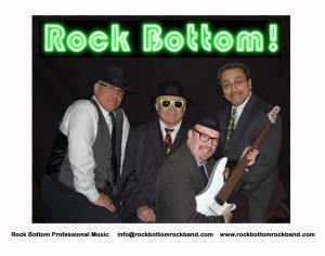 Rock Bottom Rock Dance Band, Portland — Professional Music for your wedding, party, club or event. Rock Bottom is a professional dance band playing music from the 50's to the present. Never too loud but always upbeat, polite and professional. Your event is sure to be a success with Rock Bottom playing the dance show. We have loads of references, too many to print here. Rest assured you'll have the time of your life with Rock Bottom Professional Music! Visit our website for more details.