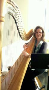 Peggy Bailey, harpist, Athens